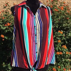 NWT Colorful Sleeveless Top